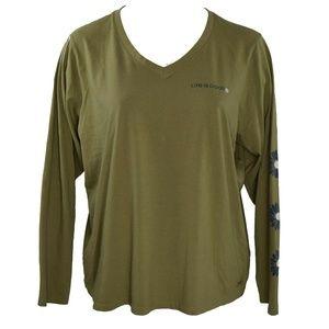 Life Is Good W Crusher V Neck T Shirt 3XL NWT